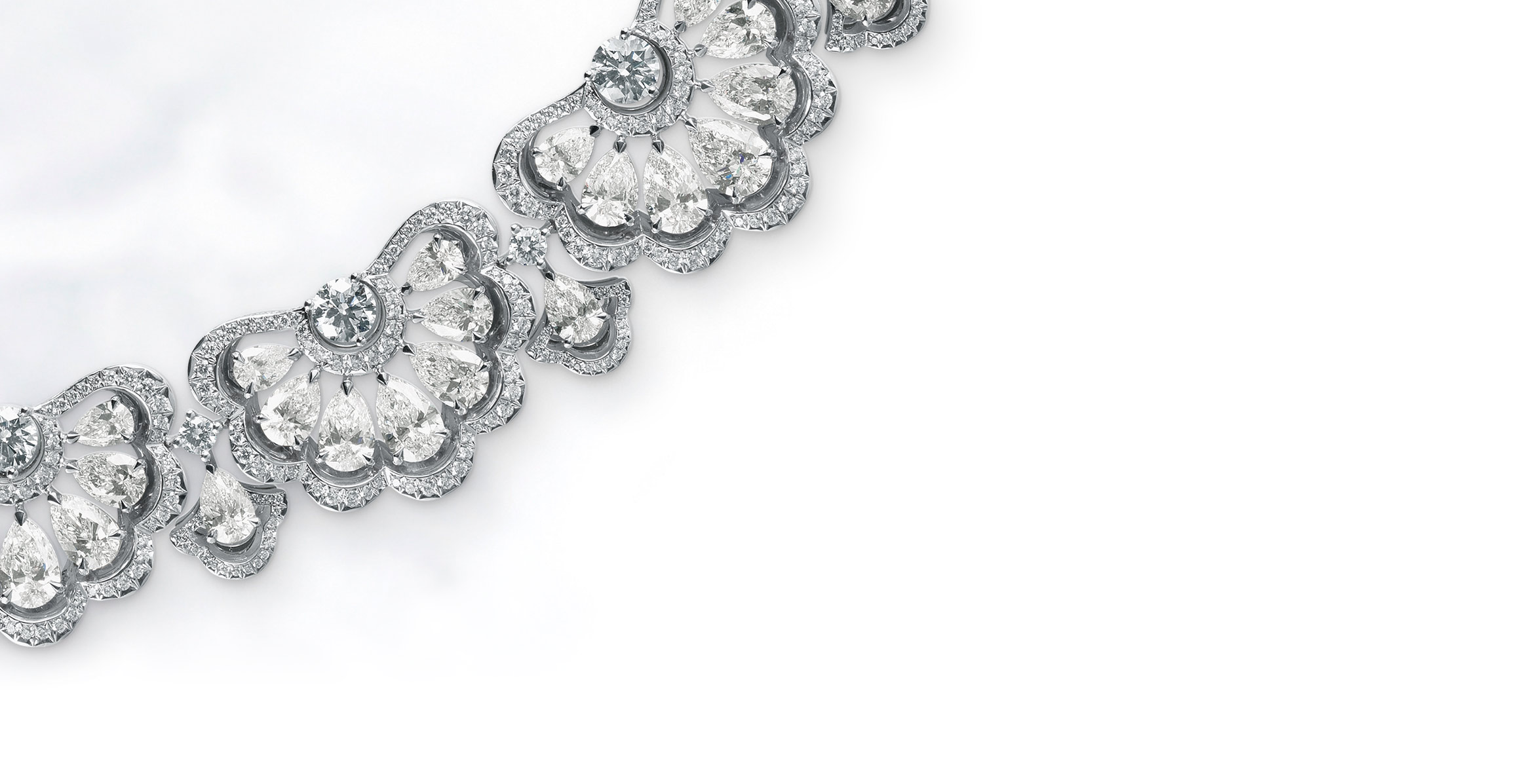 The Precious lace collection by Chopard, with a sparkling silver flower