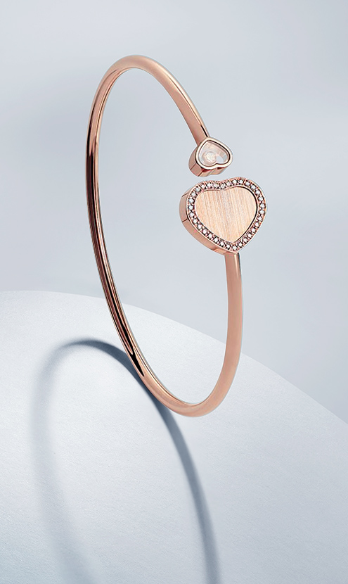 Front view of a bangle Happy Hearts