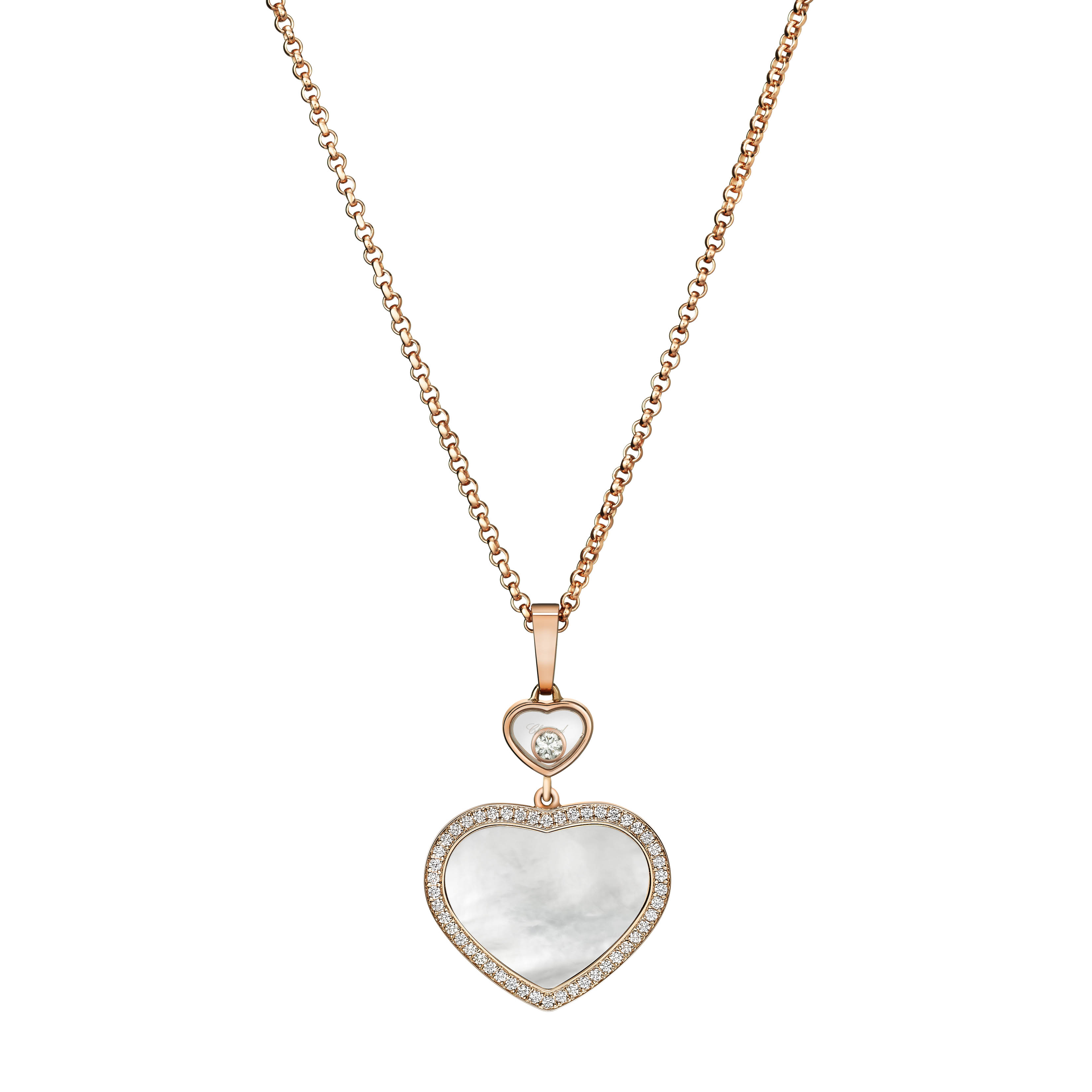 Happy Hearts Bangle with gold and mother-of-pearl