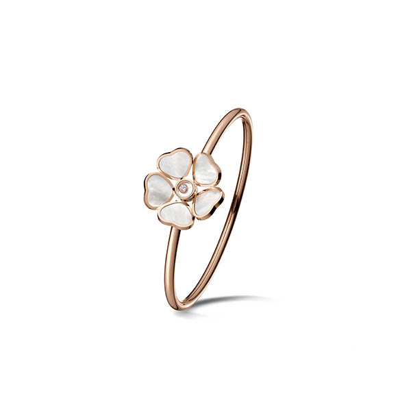 Chopard golden ring new collection happy hearts flowers